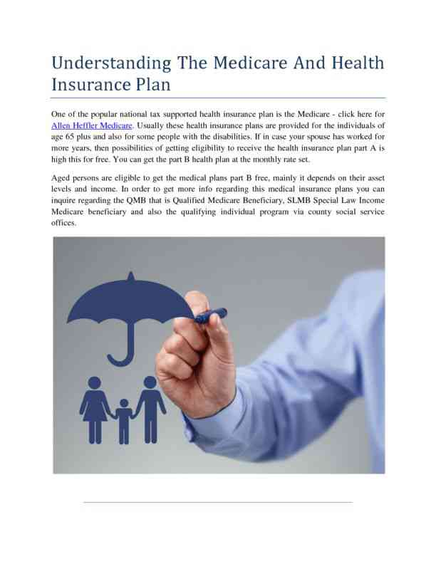 Understanding the Medicare and Health Insurance Plan
