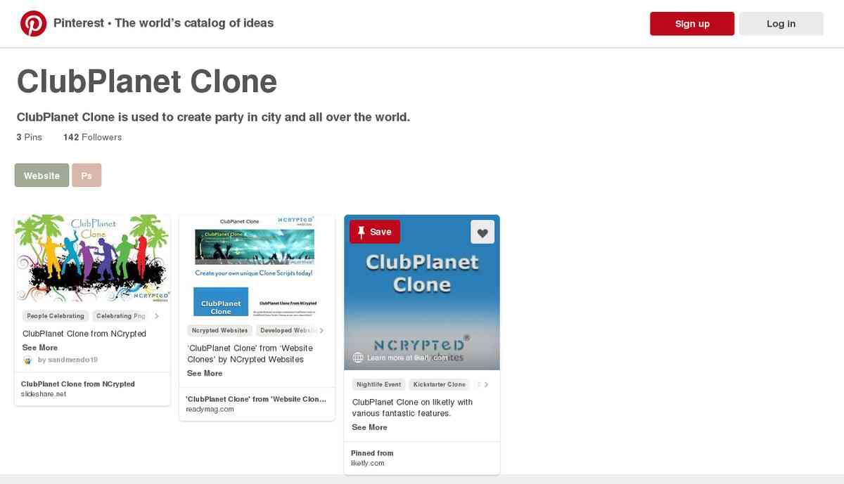 pinterest.com/websiteclone/clubplanet-clone/
