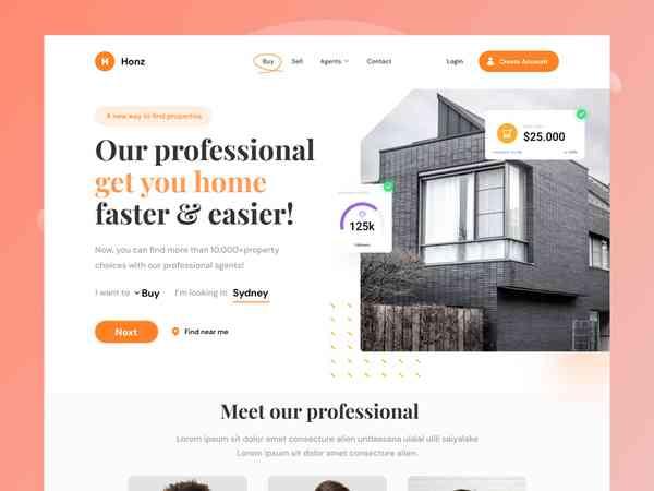 Honze Real Estate Website
