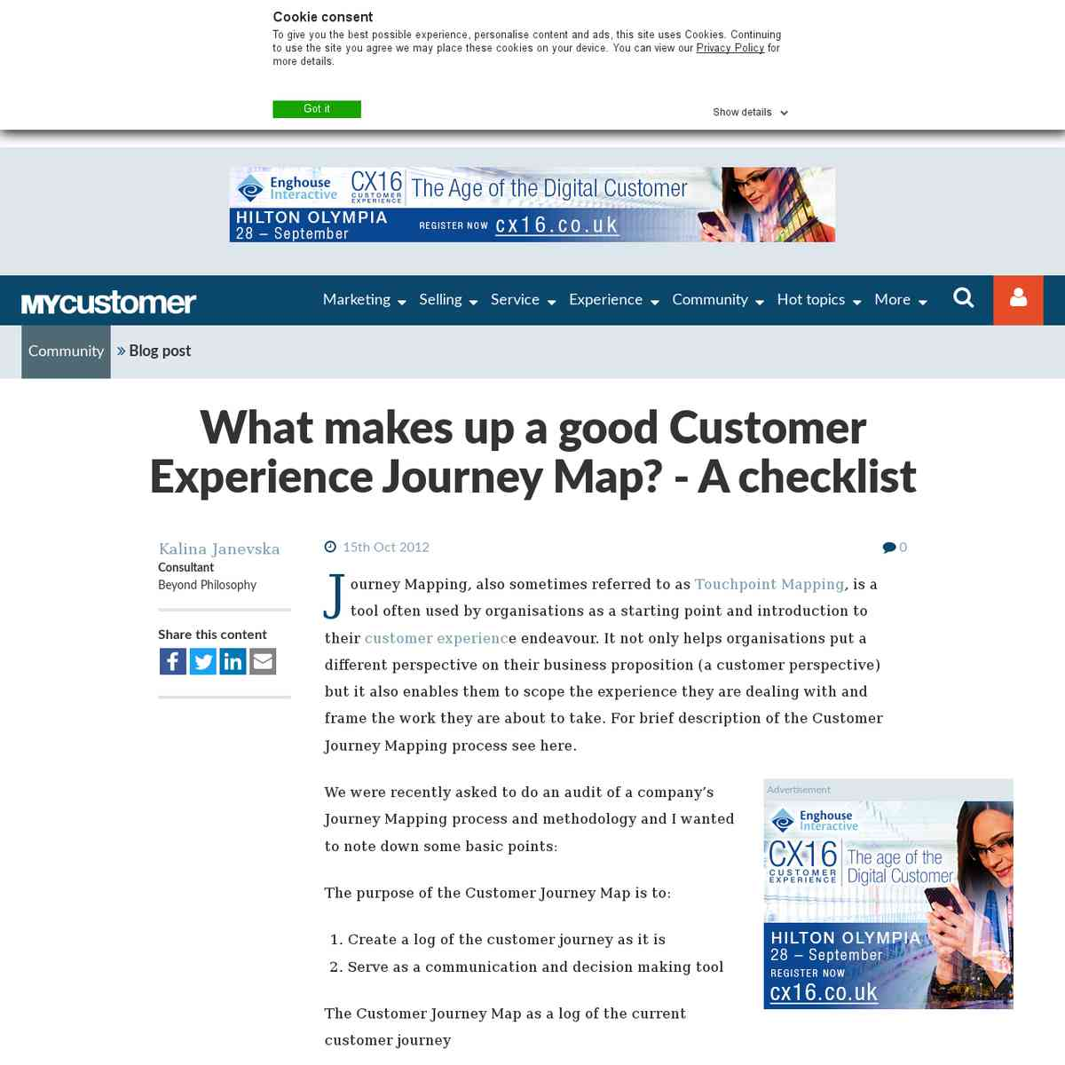 What makes up a good Customer Experience Journey Map? - A checklist