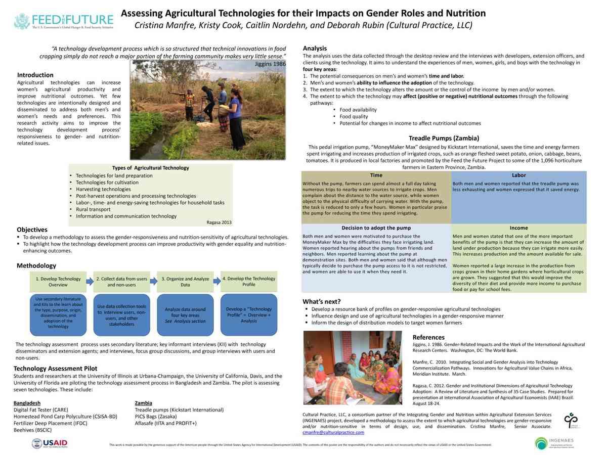Manfre, et al (2015) Assessing ag tech for gender and nutrition - NHG Conf