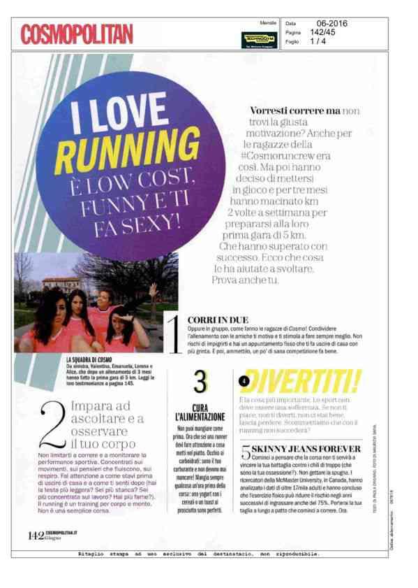 I love running - Cosmopolitan - 06/2016