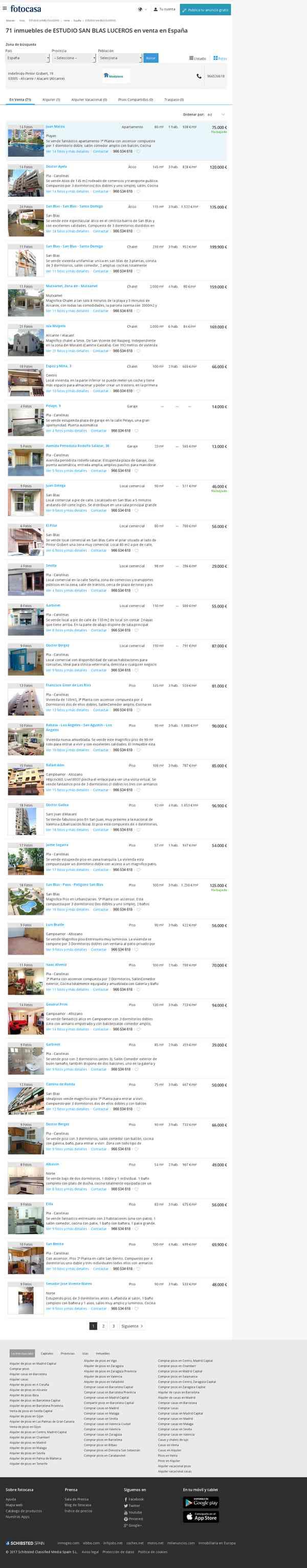 79 inmuebles de ESTUDIO SAN BLAS LUCEROS en venta en España | fotocasa