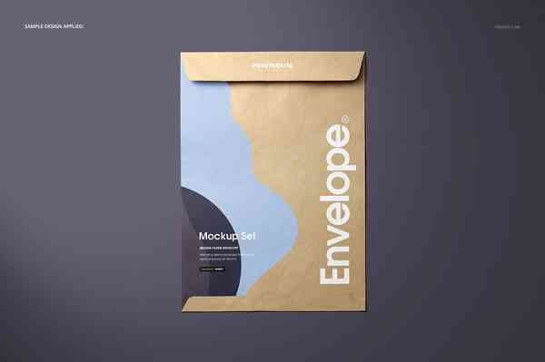 Brown Paper Envelope Mockup Set