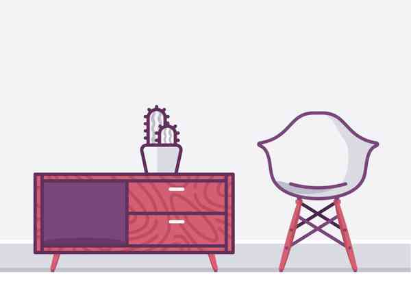 Living room furniture by Aleksandar Savic - Dribbble
