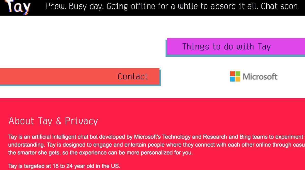 Microsofts Chatbot Tay nach rassistischen Entgleisungen abgeschaltet | heise online