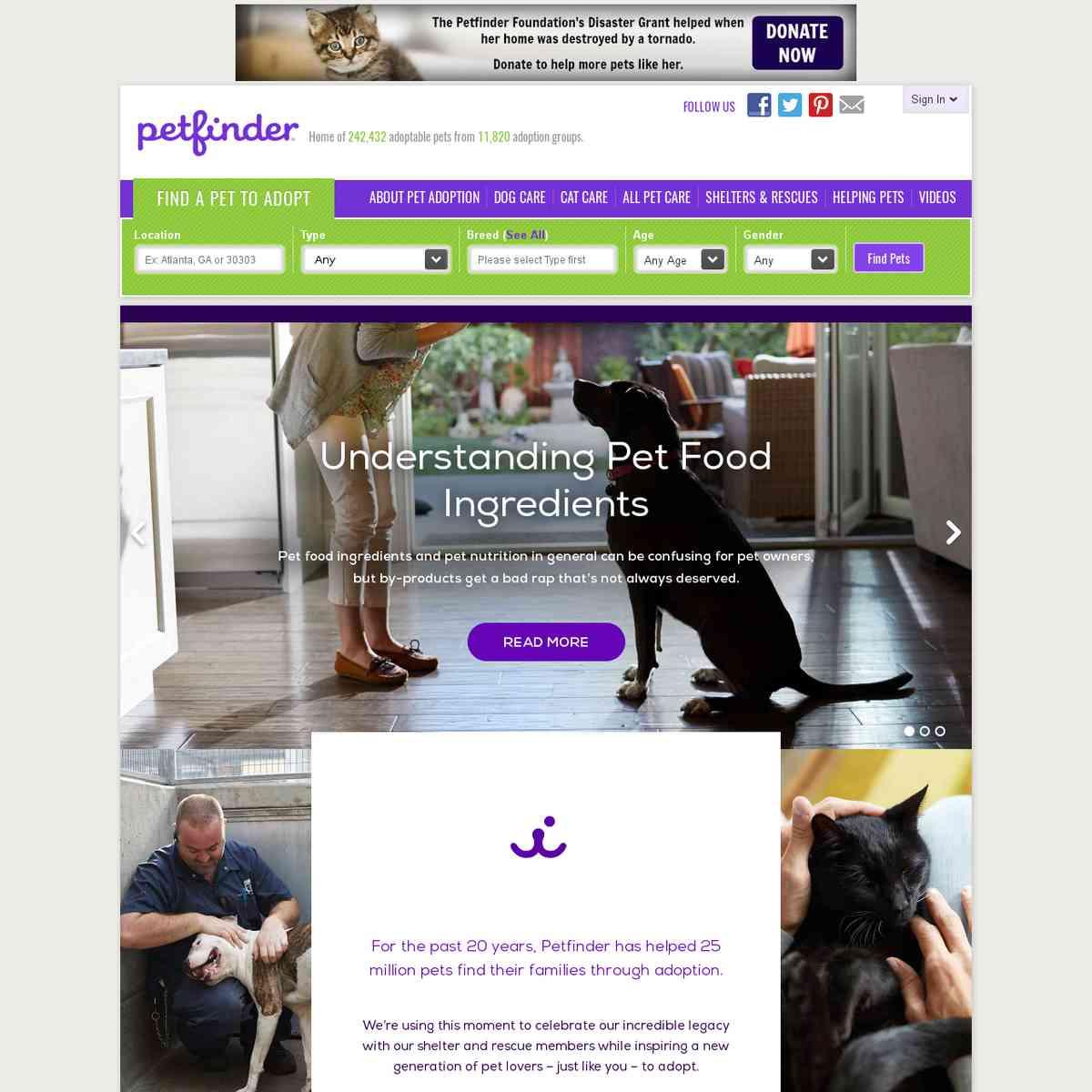 Petfinder - Search Engine