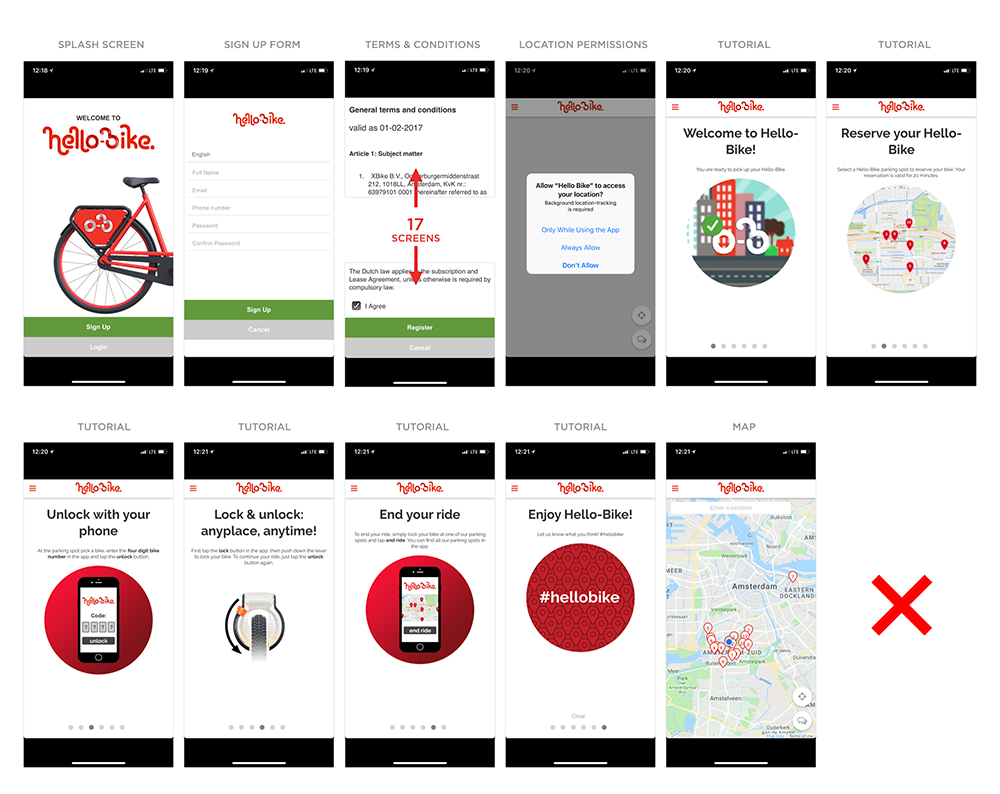 LukeW | What Can Bike Sharing Apps Teach Us About Mobile On-boarding Design?