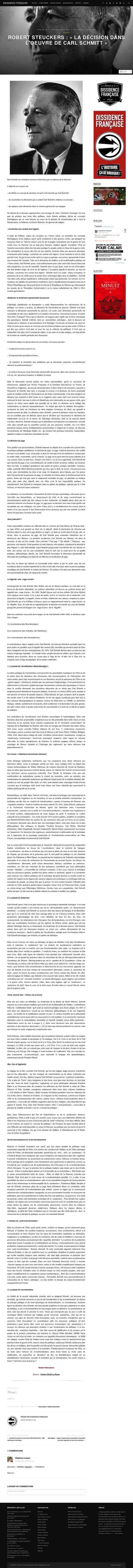 la-dissidence.org/2016/01/05/robert-steuckers-la-decision-dans-loeuvre-de-carl-schmitt/
