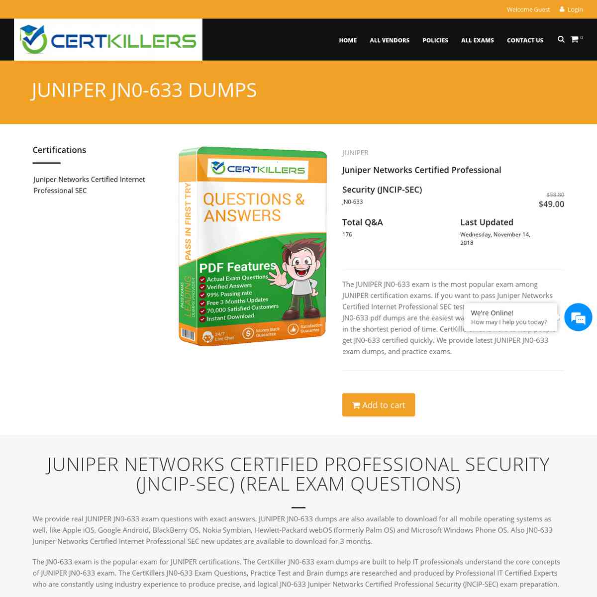 Only CertKillers.net JN0-633 bootcamp are needed to pass | online test | online test
