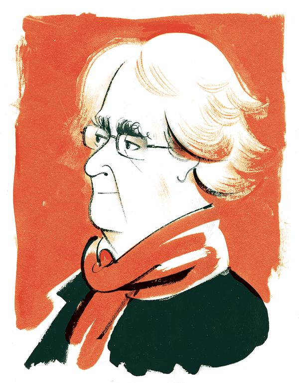 Woman in the orange scarf