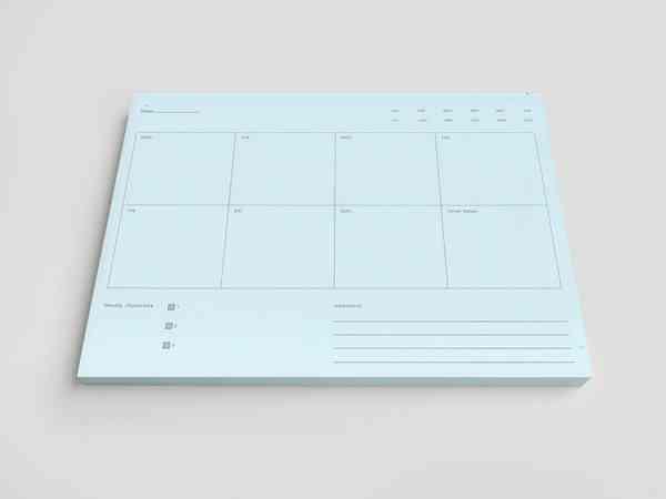 Desktop Planner Pad