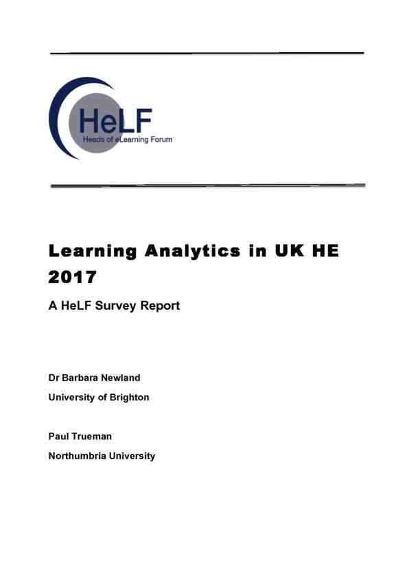 HeLFLearningAnalytics2017