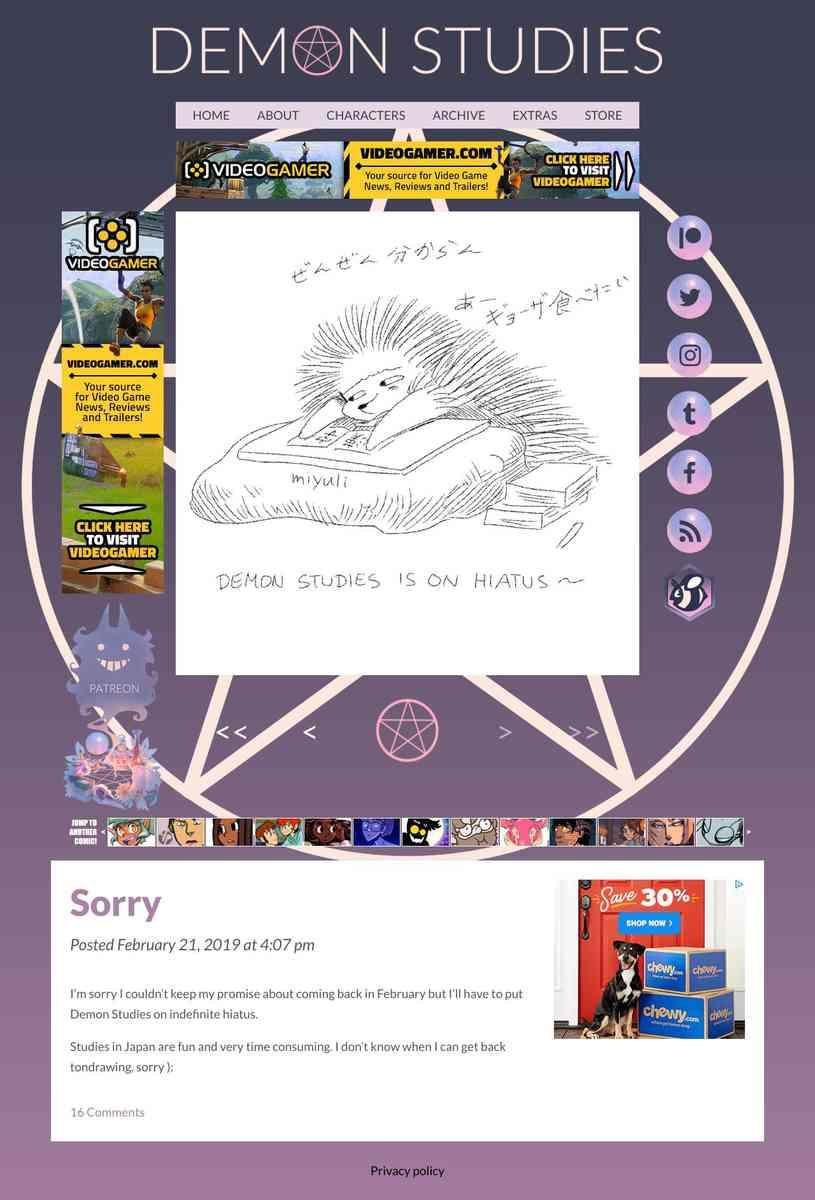 Demon Studies web comic