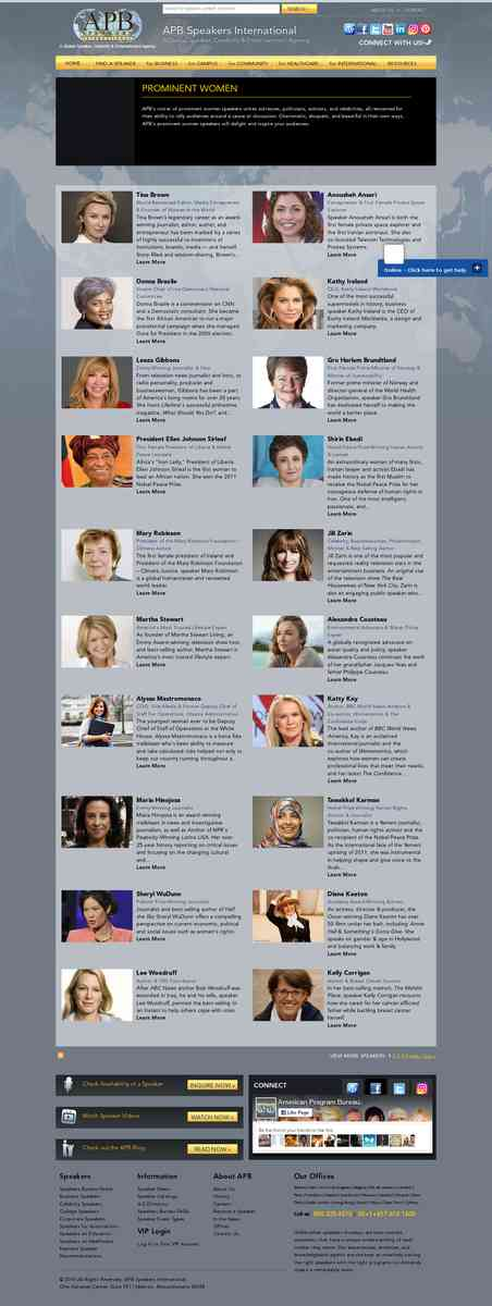 Prominent Women Speakers | American Program Bureau - Speakers Bureau for Keynote & Celebrity Speake…