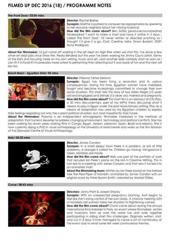 Filmed Up Programme Notes Dec 16