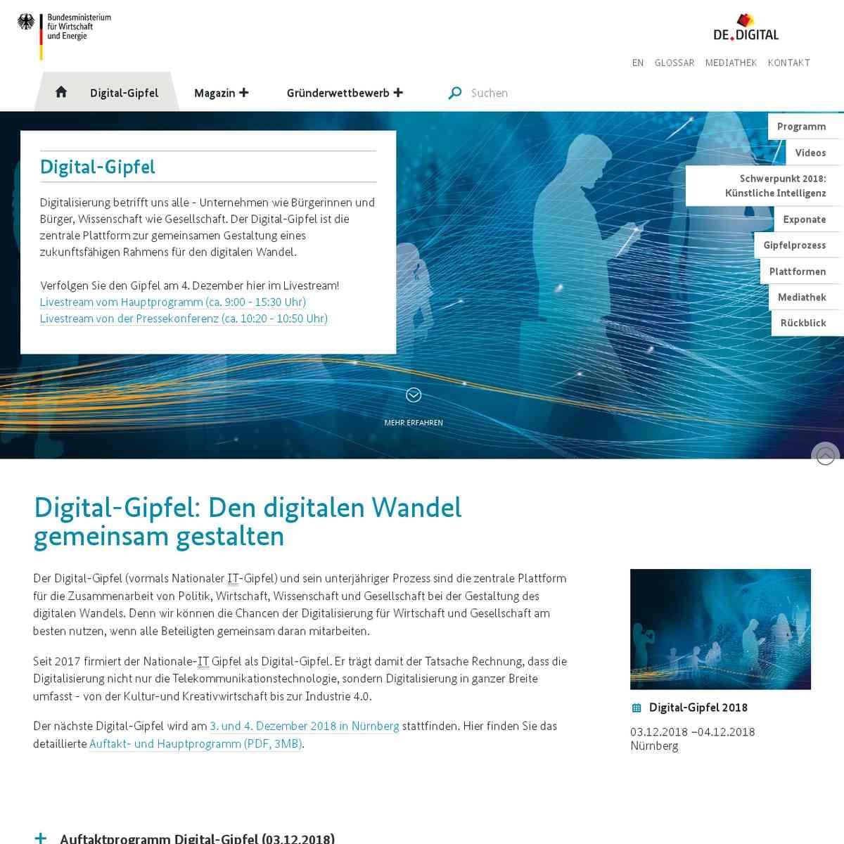 DE.DIGITAL - Digital-Gipfel