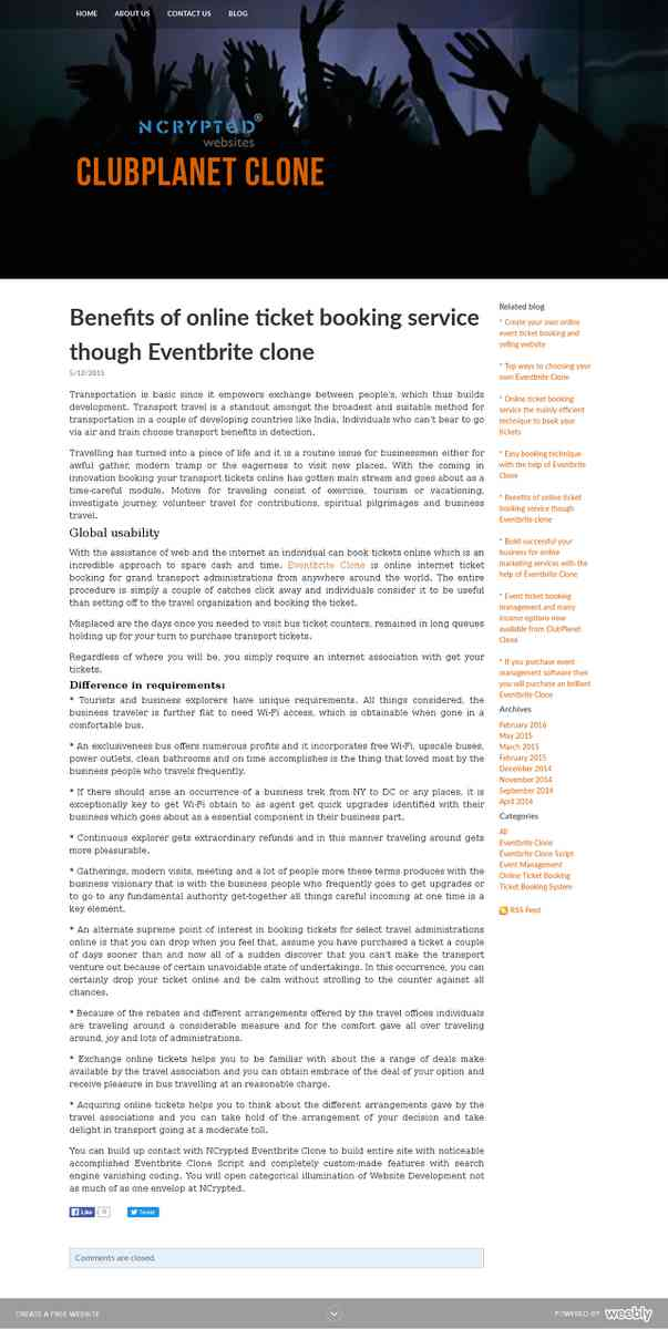 eventbriteclone.weebly.com/blog/benefits-of-online-ticket-booking-service-though-eventbrite-clone