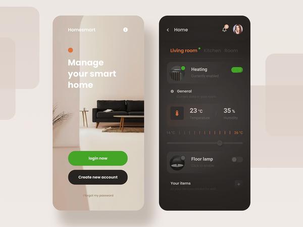 Smart Home   App Concept