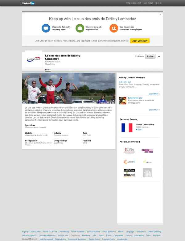 Présentation de Le club des amis de Didiely Lambertov | LinkedIn