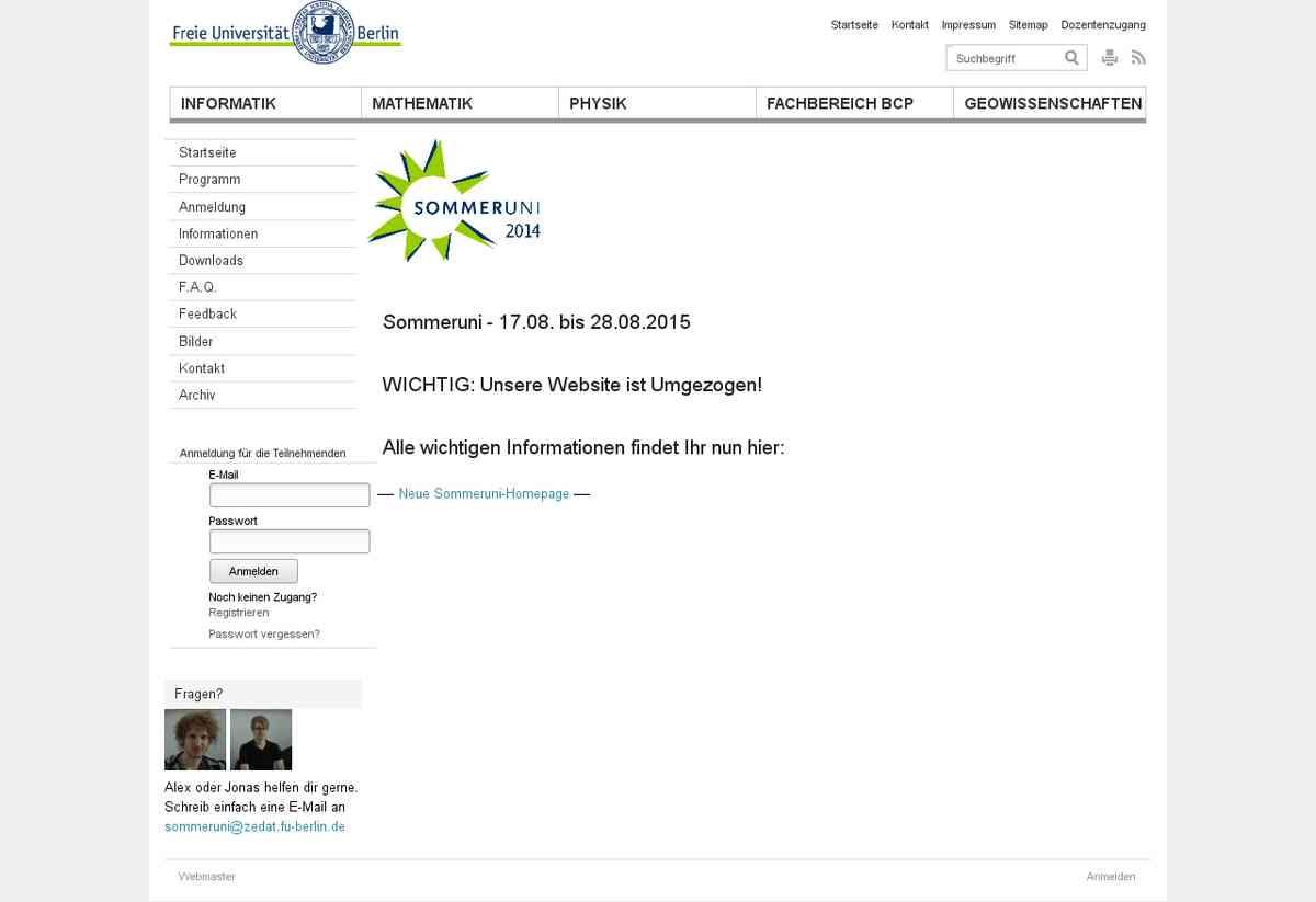 Sommeruniversität FU Berlin