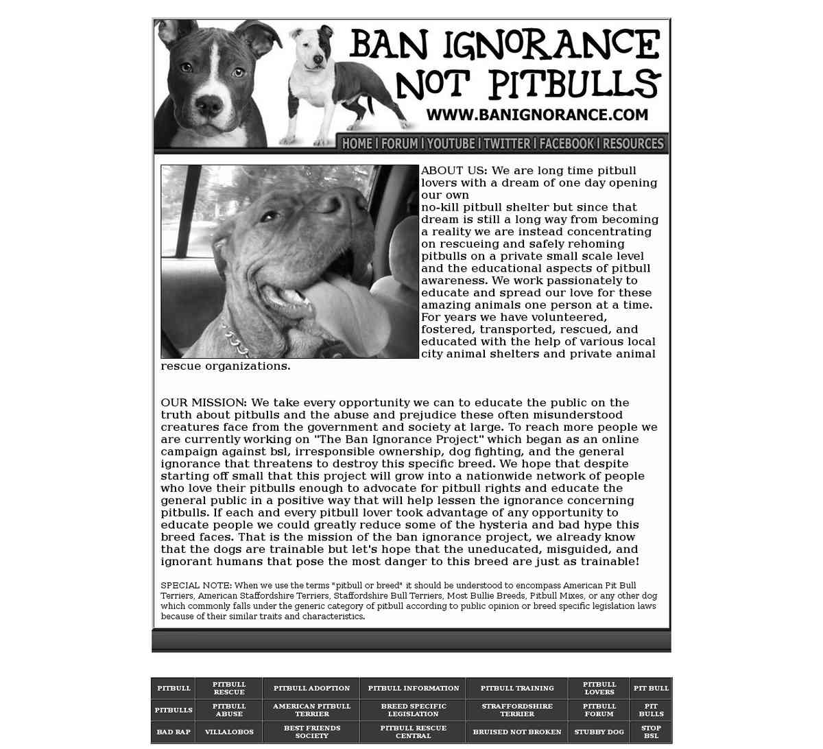 Ban Ignorance Not Pitbulls