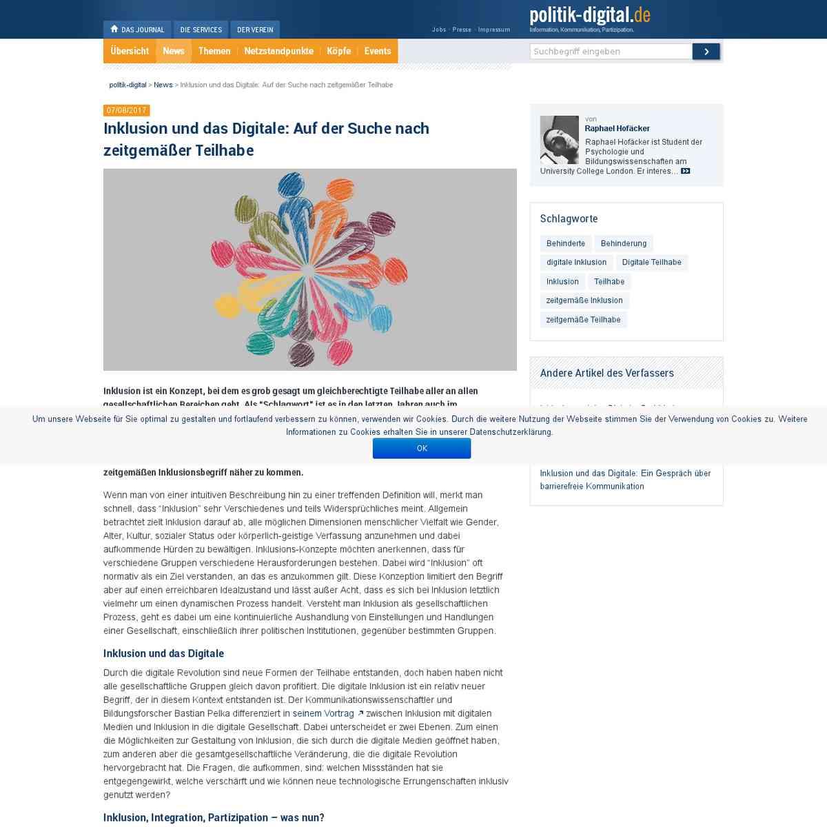 Inklusion und das Digitale: Auf der Suche nach zeitgemäßer Teilhabe | politik-digital