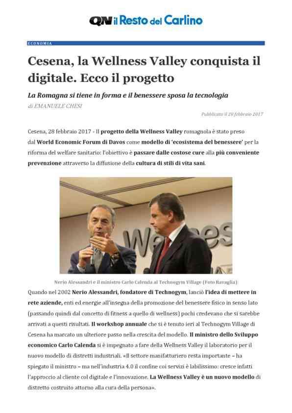 2017-02-28 QN_ Cesena, la Wellness Valley conquista il digitale. Ecco il progetto