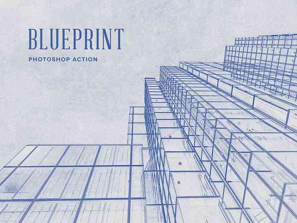 Blueprint Photoshop Action