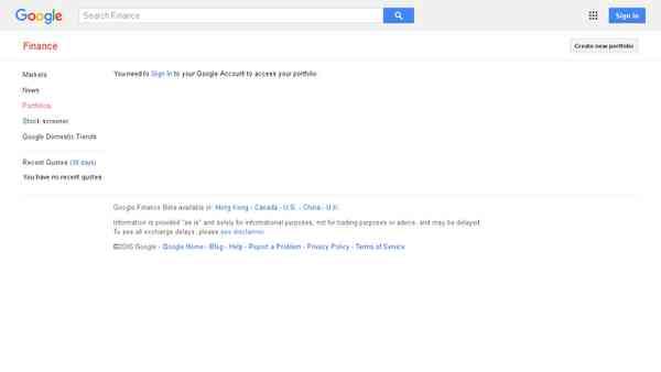My Portfolio - Google Finance