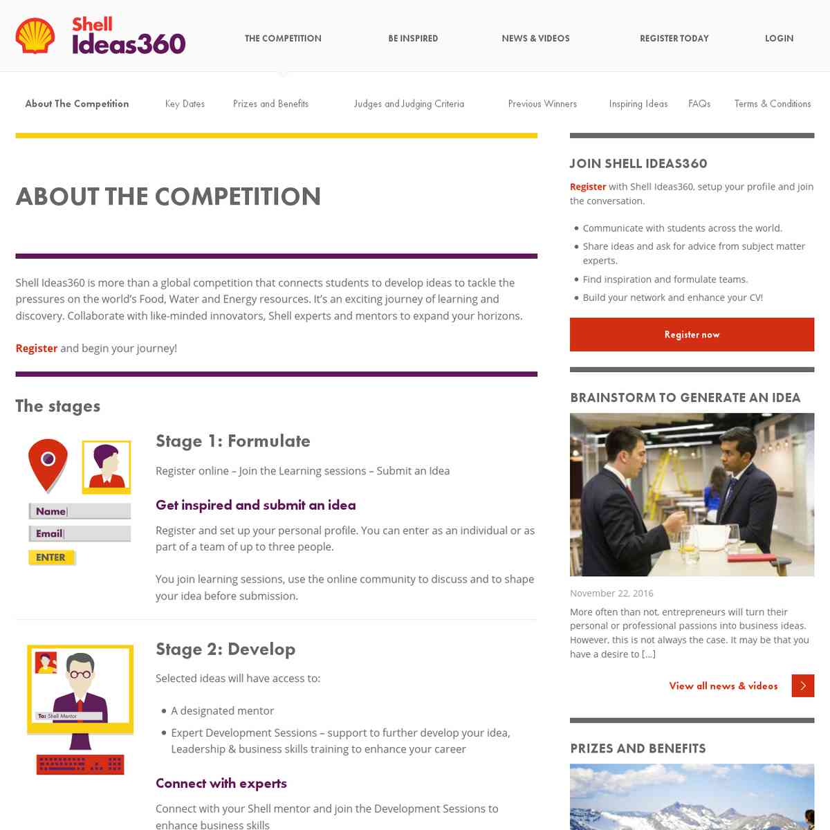 About The Competition - Shell Ideas360
