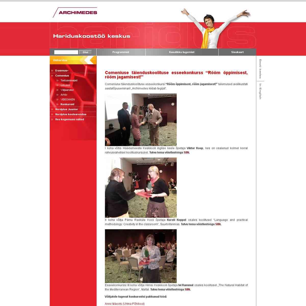 ARCHIMEDES sihtasutus - hariduskoostöö keskus
