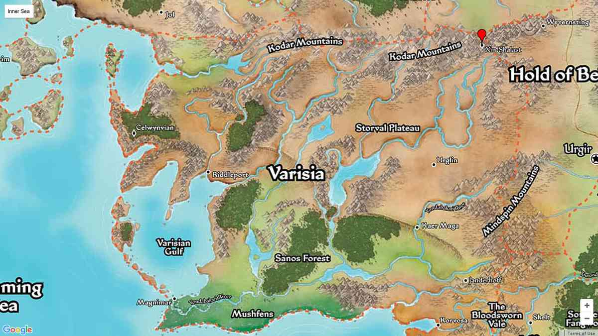 Info - PF Maps of Golarion