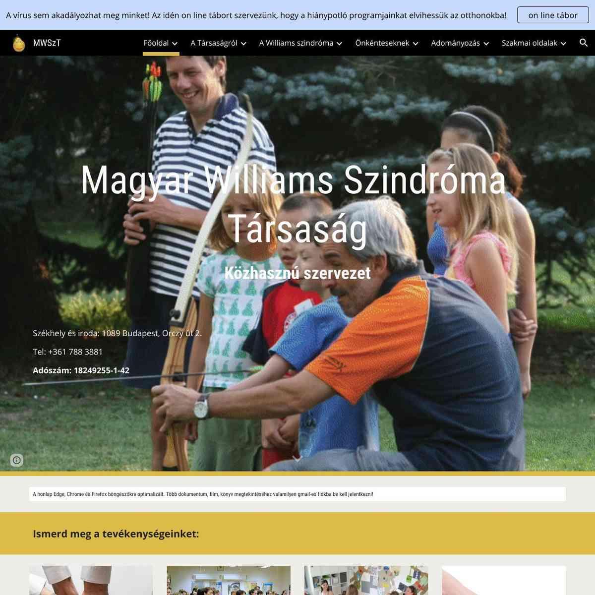 Magyar Williams Szindróma Társaság