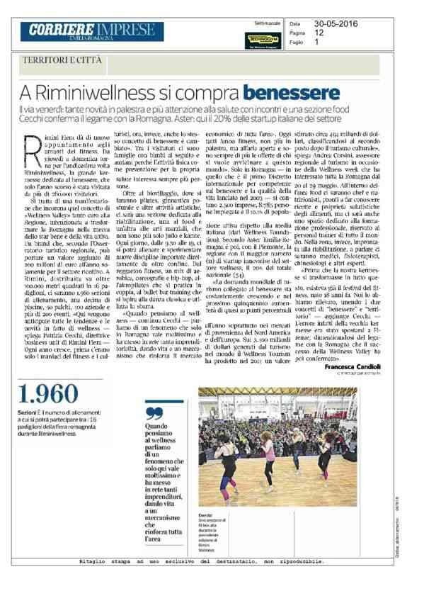 A Riminiwellness si compra benessere - Corriere Imprese Emilia-Romagna - 30/05/2016