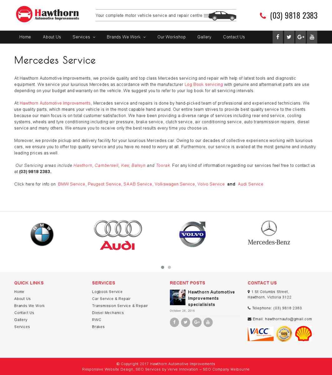 Mercedes Service Toorak