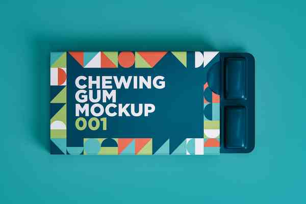 $ Chewing Gum Mockup