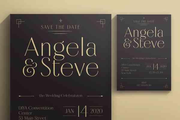 $ Wedding Invitation Template