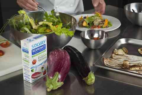 Le ricette gourmet dello chef Danilo Angè per il Bicarbonato Solvay® Frutta & Verdura