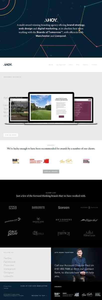 Website Design Manchester | Graphic Design Manchester | AHOY |