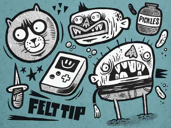 Felt Tip! Procreate Brush