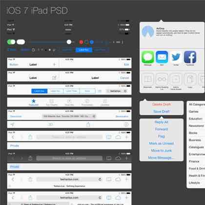 iPad GUI PSD | Teehan+Lax