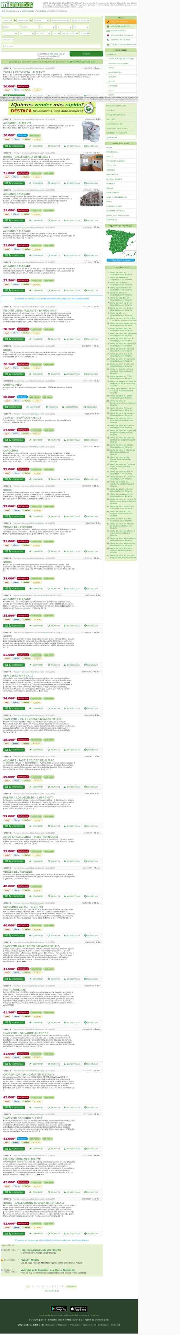 MIL ANUNCIOS.COM - Compra-Venta de viviendas en Alicante/Alacant de particulares y bancos. Vivienda…