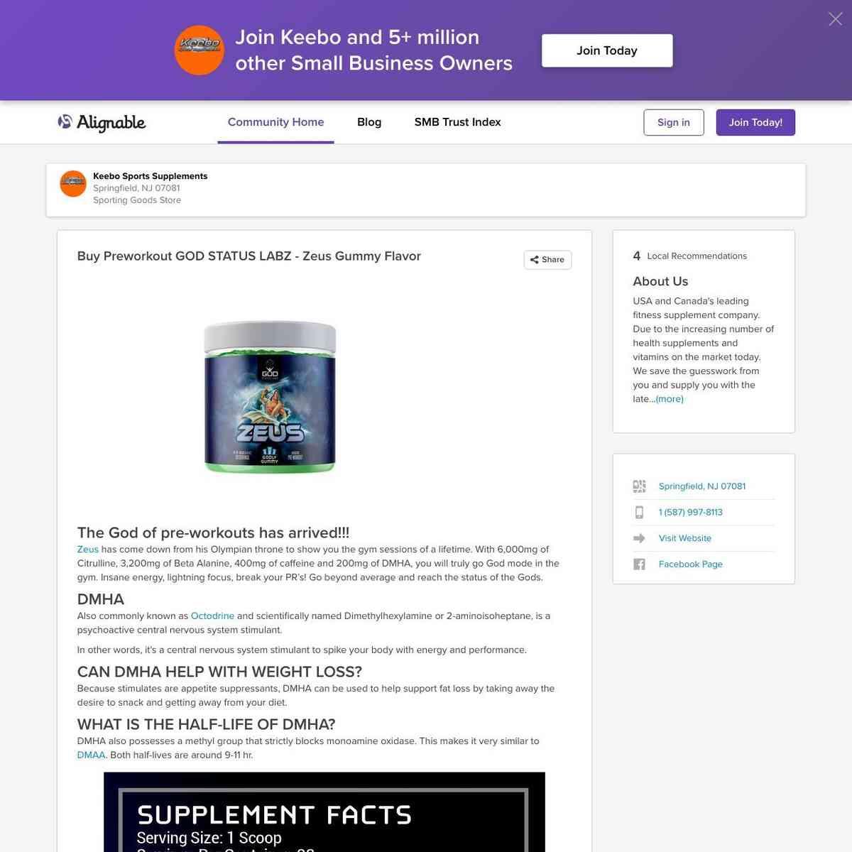 Buy Preworkout GOD STATUS LABZ - Zeus Gummy Flavor