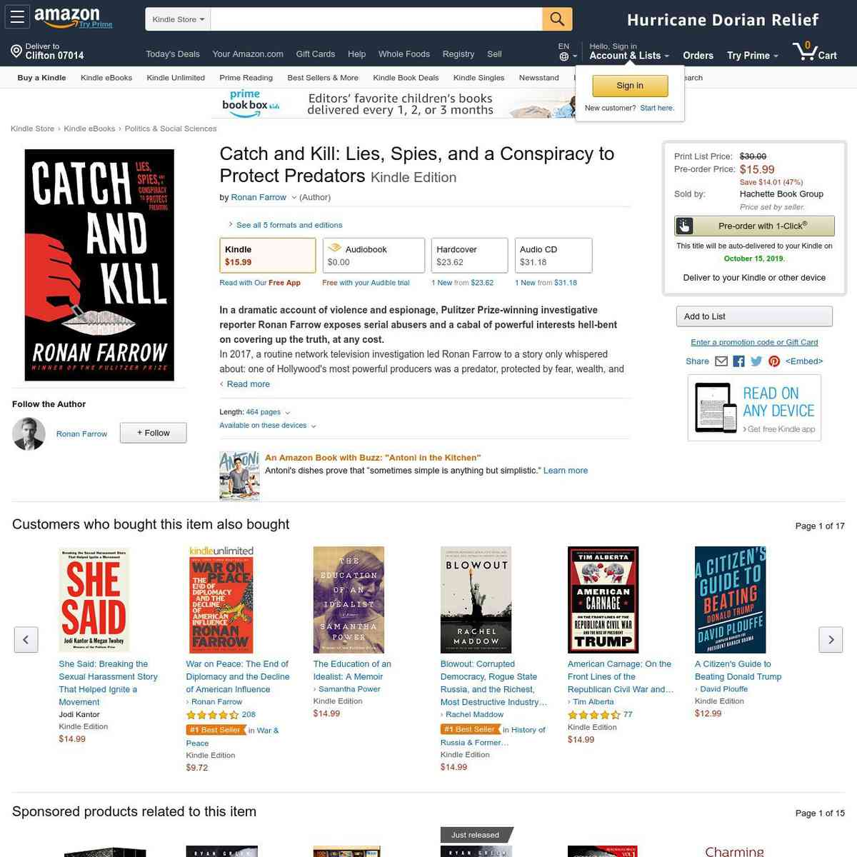 amazon.com/Catch-Kill-Conspiracy-Protect-Predators-ebook/dp/B07TD413RV