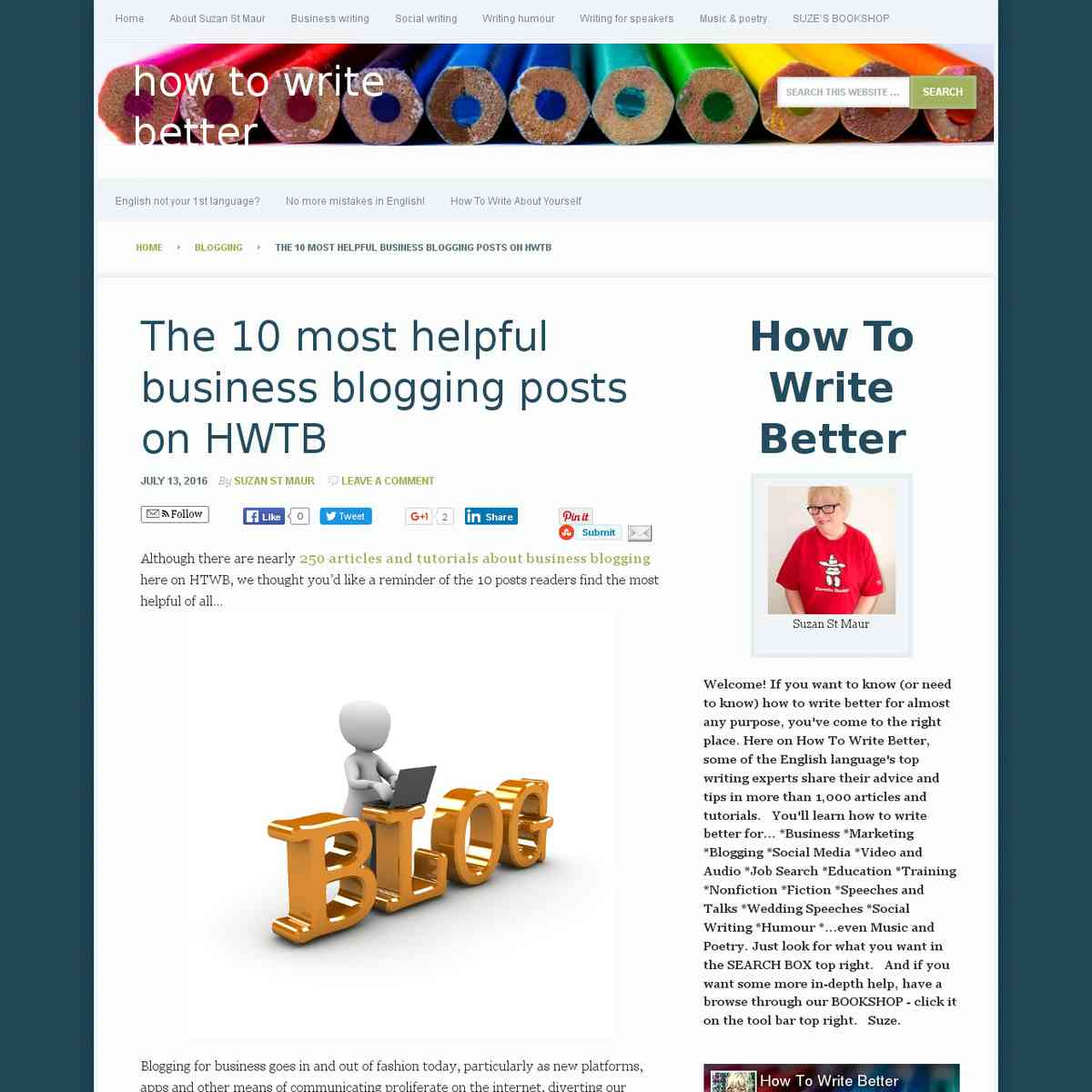 10 most helpful business blogging posts ever on HTWB | How To Write Better