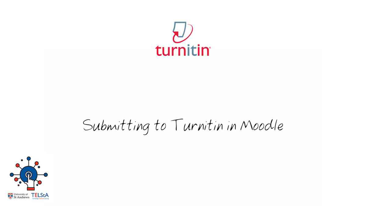 Submitting to Turnitin in Moodle