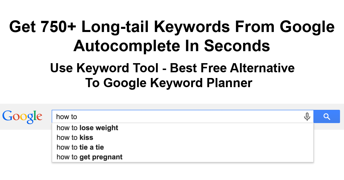 Keyword Tool #1 FREE Alternative To Google Keyword Planner for SEO