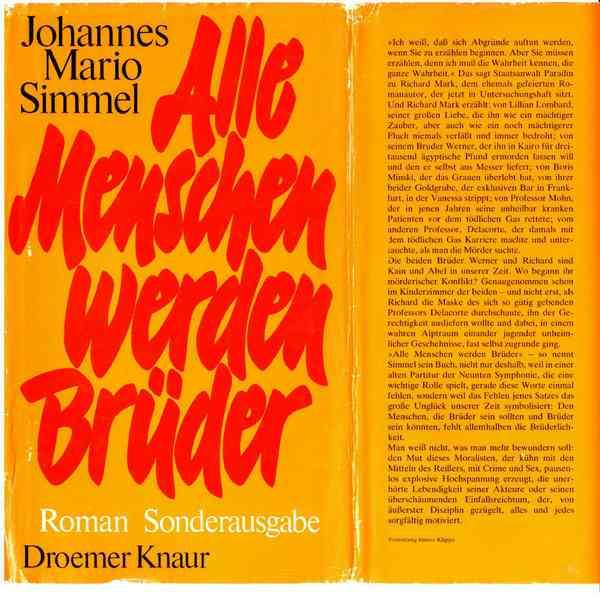 Alle Menschen werden Brüder, Autor J.M. Simme, gebundene Ausgabe #2149 | eBay