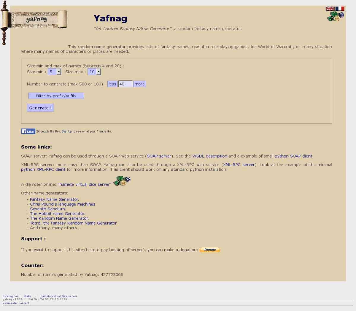 Names - YA Fantasy Name Generator - Online RPG Tools